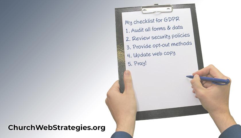 Checklist for GDPR