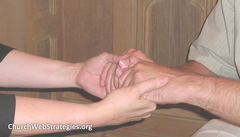 close-up of hands being held