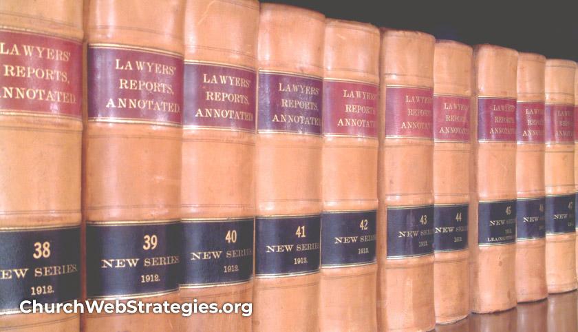 shelf of law books
