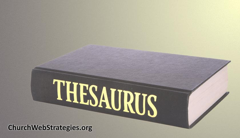 Thesaurus sitting on table