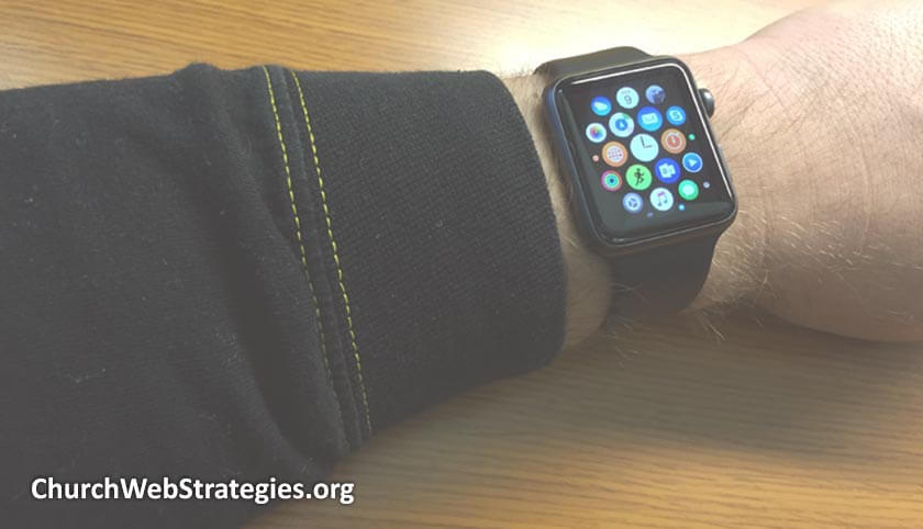 close-up of arm wearing Apple Watch