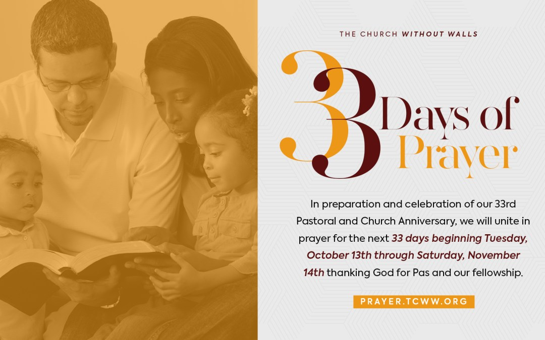Join Us for 33 Days of Prayer