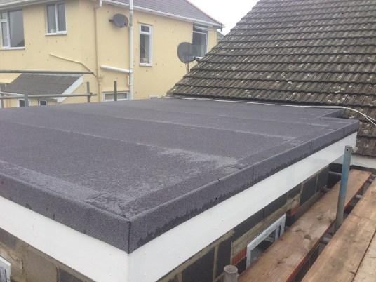 Flat roof completed.