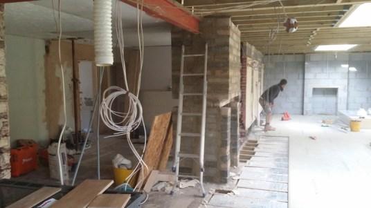 Extension floorboarding.