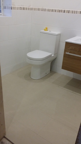 Contemporary bathroom fittings.