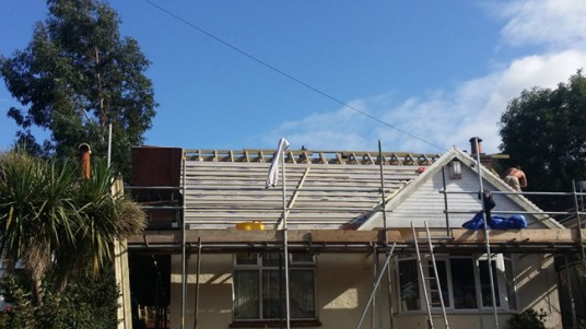 New roof going on with Velux windows.