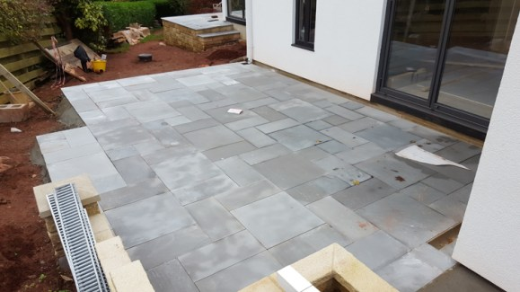 flagstones and decorative walling