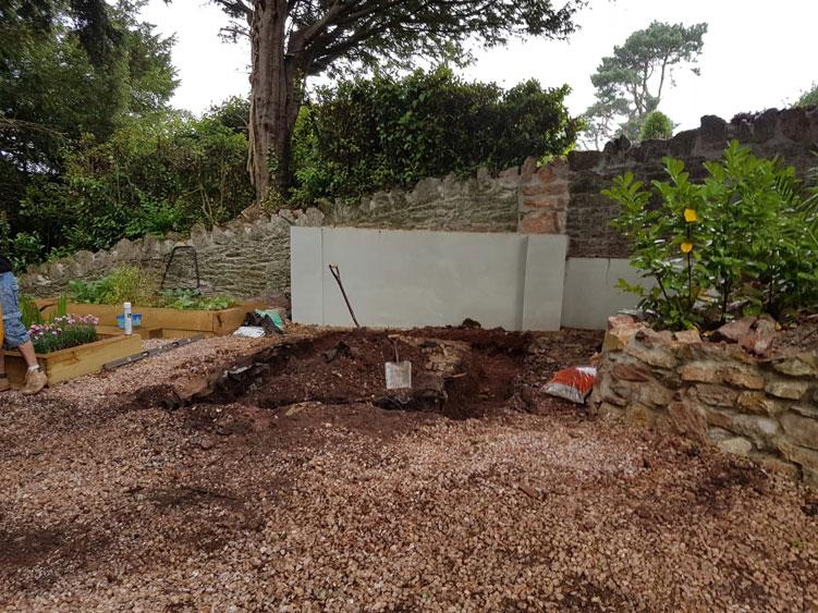 Churston Builders - Decorative garden Orangery structure base 2