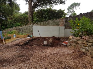 Churston Builders - Decorative garden Orangery structure base 2