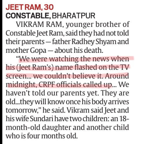 Hundreds of crores have been squandered in 'Digital India'. Isn't there a more dignified way of informing families that a 'jawan' is dead than through a TV news flash?