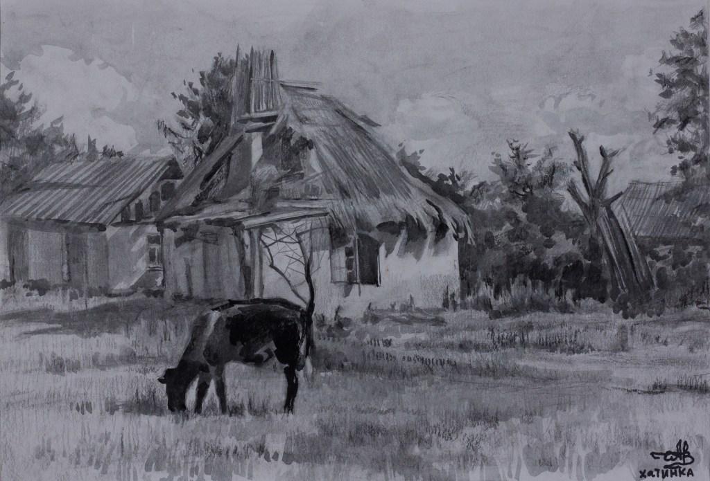 Hatinka 2006 gouache on paper pastel pencil 35*55