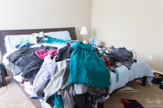 Clothing purge before