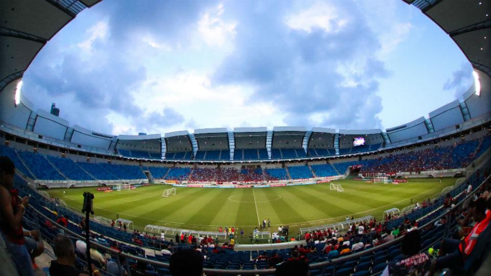 Arena das Dunas em jogo do Flamengo