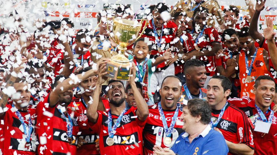Léo Moura Flamengo campeão Carioca 2014
