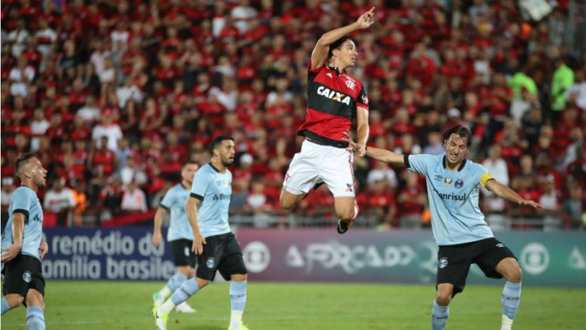 Leandro Damião Geromel Flamengo Grêmio Ilha do Urubu 2017