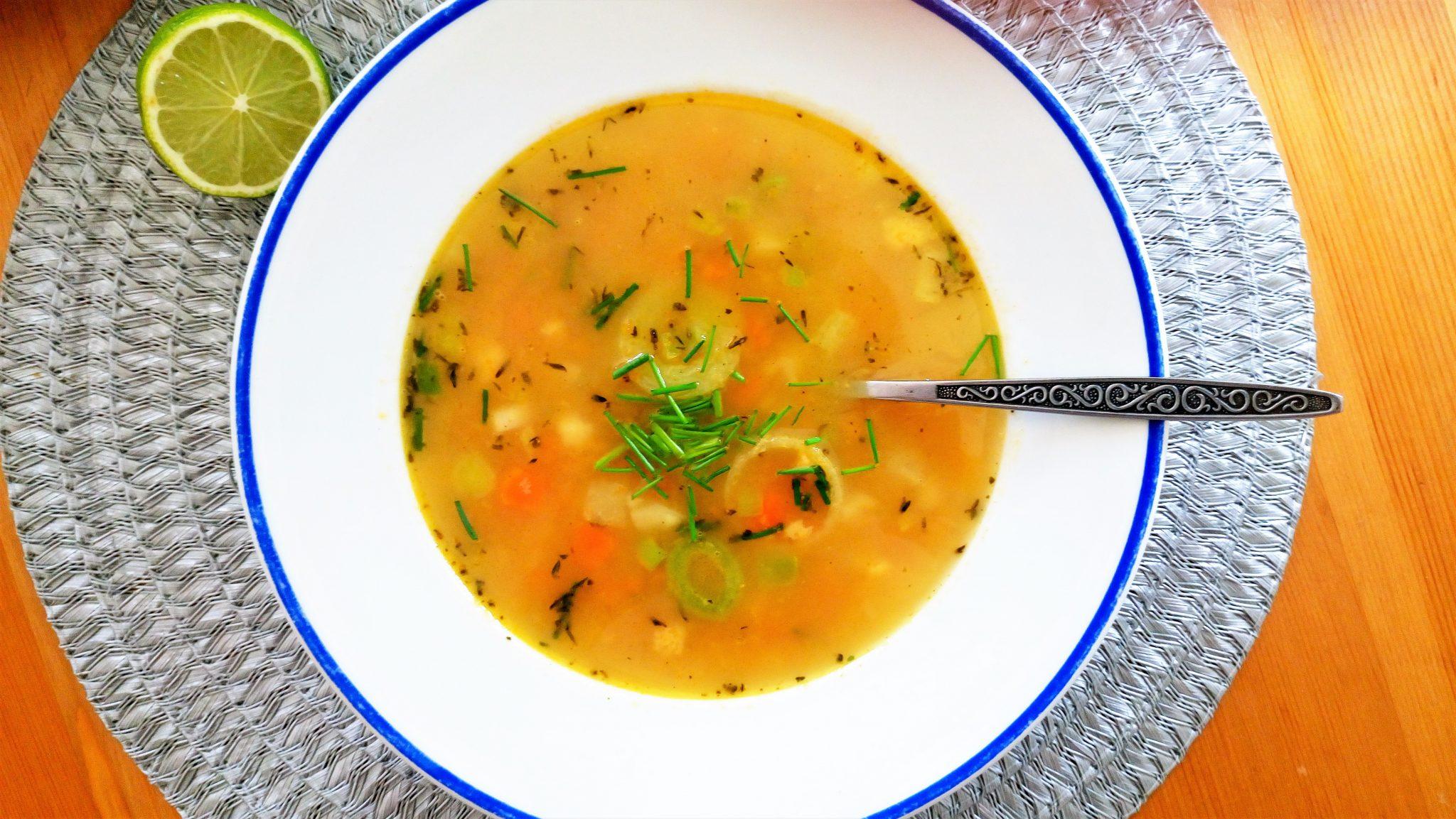 Mrkvová polievka s cícerom