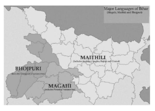 Figure 4 The Bihārī Languages.