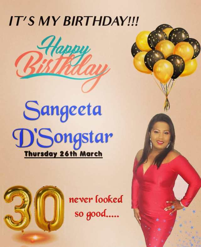 Happy Birthday Sangeeta D Songstar