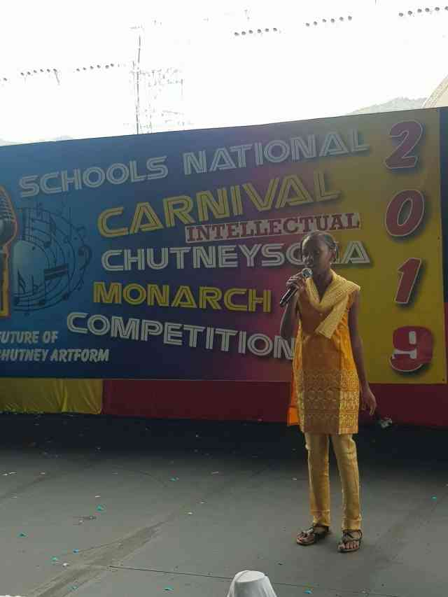 National Carnival Schools Intellectual Chutney Soca Monarch Competition 2019 Yellow Dress