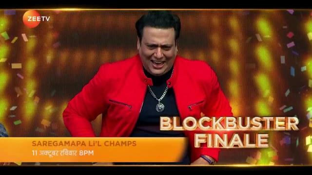 Saregamapa Li'l Champs | Blockbuster Finale | Govinda's Dance | 11th October, 8PM | Promo | Zee TV