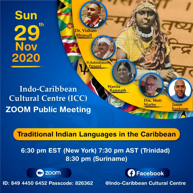 Traditional Indian Languages in the Caribbean Discussion