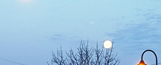 trăng buổi sáng cuối mùa đông