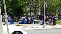 mùa hè cảnh sát Mỹ ra công viên quảng cáo
