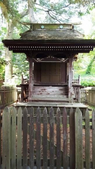 ngôi đền thờ Thần Đạo làm mẩu trưng bày