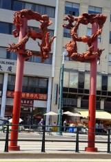 Cổng lân hay cổng rồng ở Chinatown