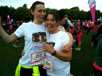 The crazy gals! CN managed to hurt her foot in the last km!
