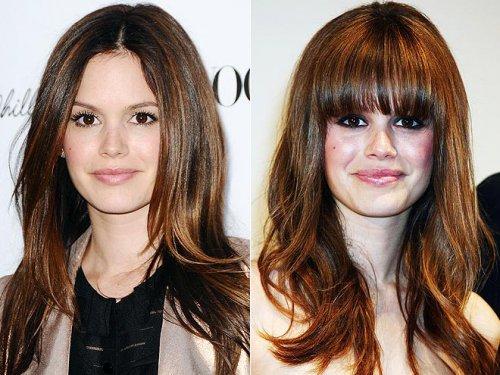 Наращивание челки до и после фото