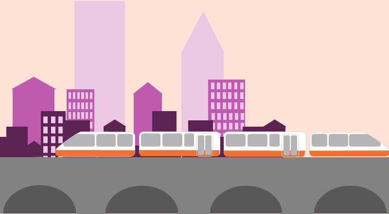 Transit using trains