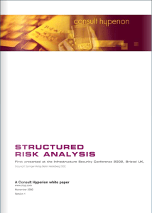 Structured Risk Analysis (SRA) whitepaper