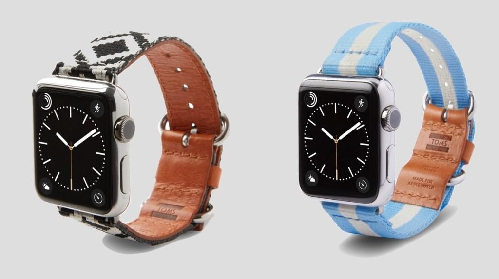 Apple Watch řemínky od Toms pomáhají lidem v nouzi