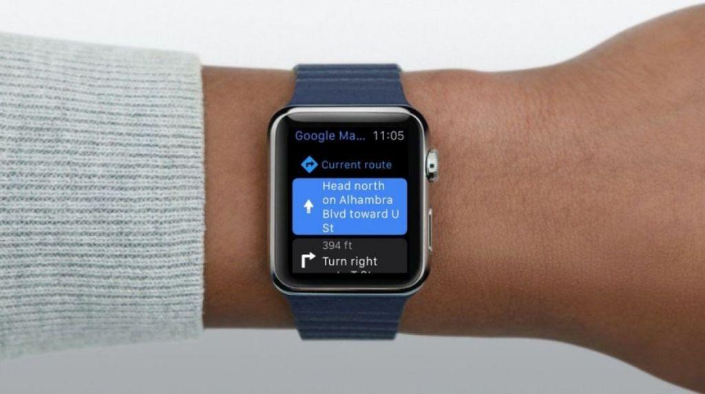 Google Maps přicházejí do Apple Watch