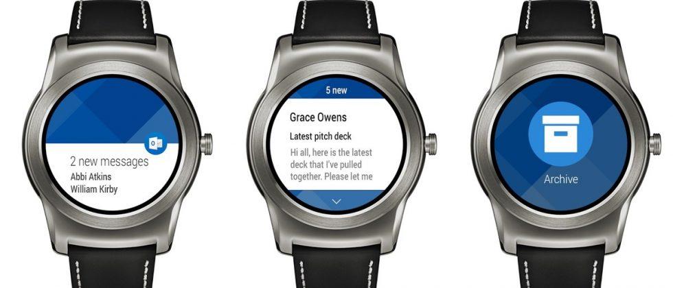 Outlook mail můžete nyní spravovat i na Android Wear zařízeních