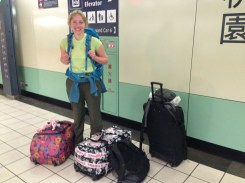 Impossible to travel light when carrying two weeks of fieldwork equipment! Me looking tired after my 17 hour flight from London - Heathrow - Dubai - Taiwan