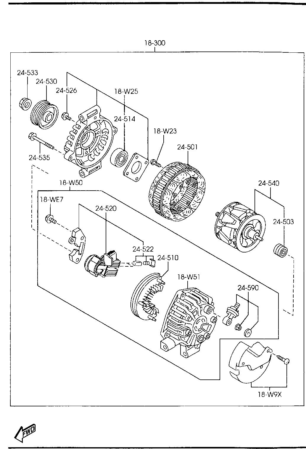 Mazda 6 Alternator