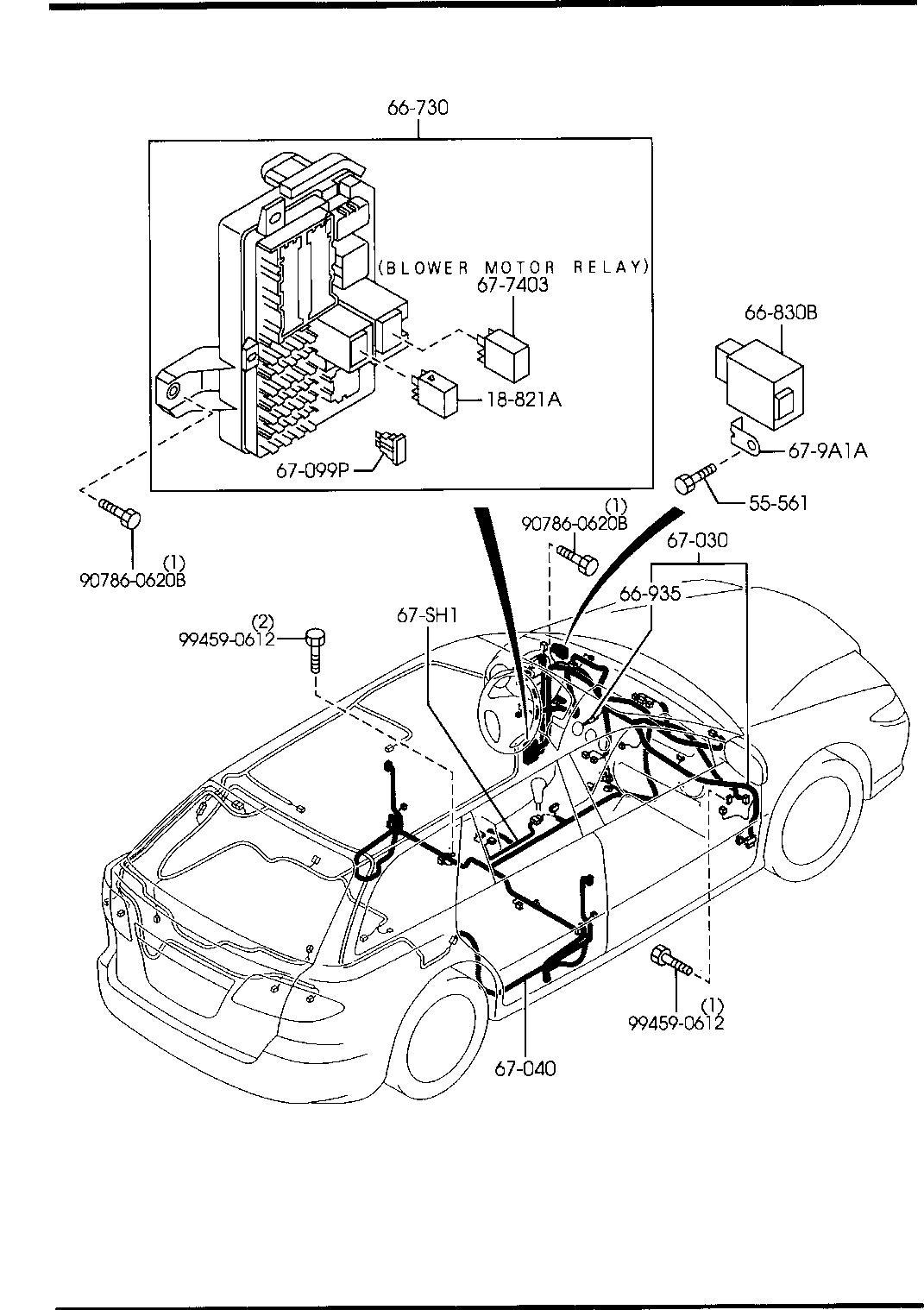 Mazda 6 Wiring Harness