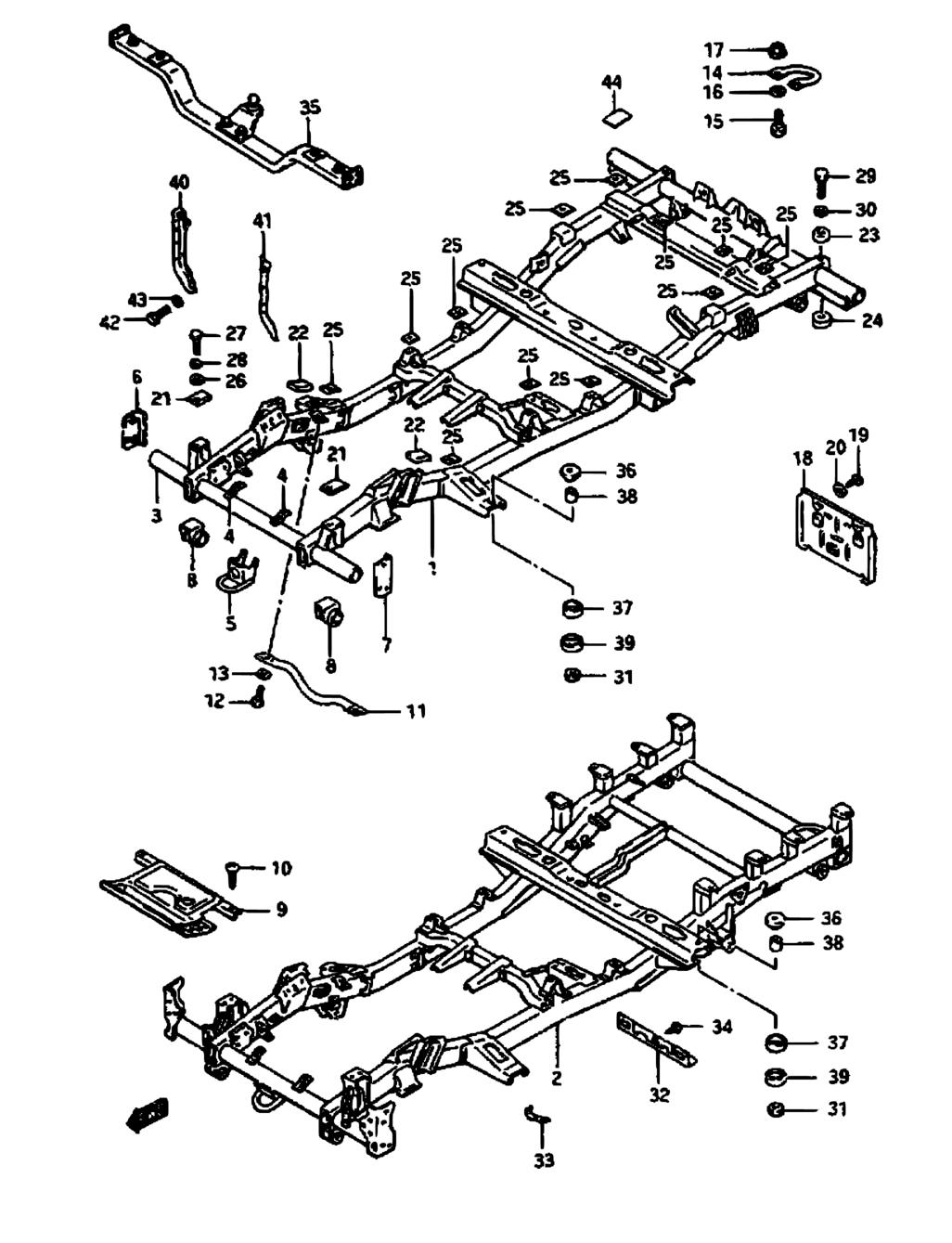 Suzuki Samurai Bumper Blueprints