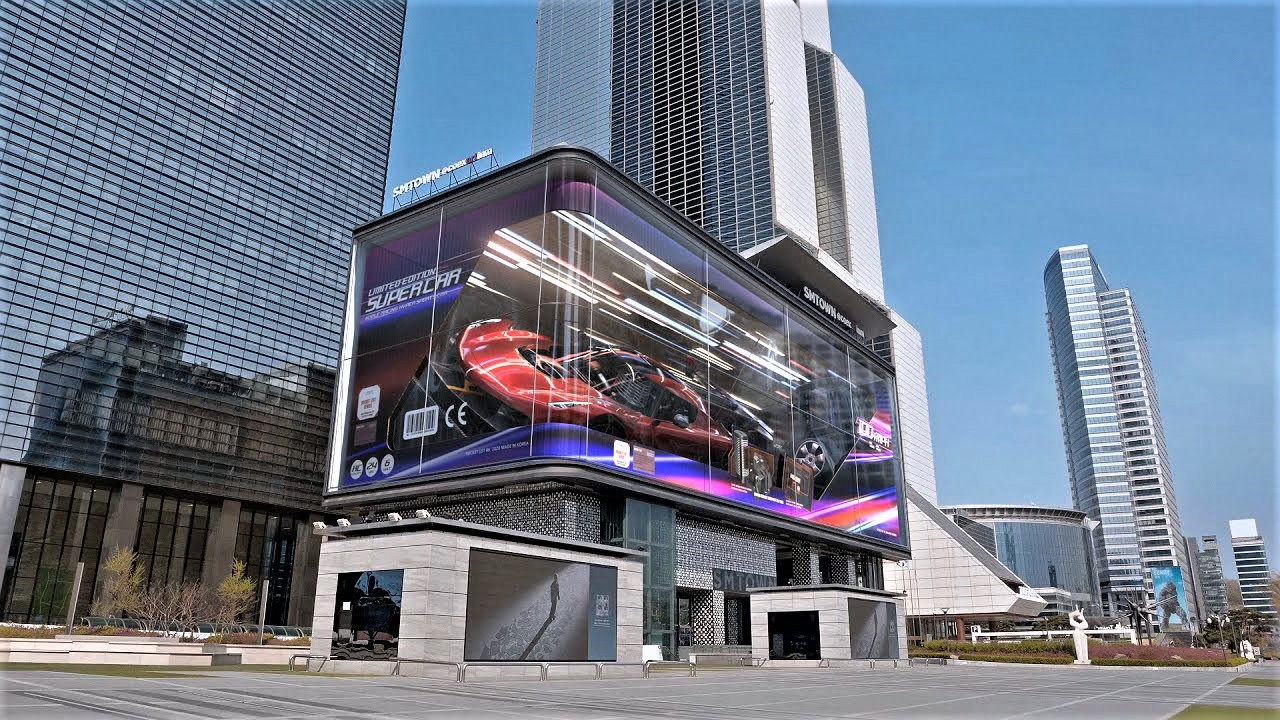 LED façade using immersive technology by CI