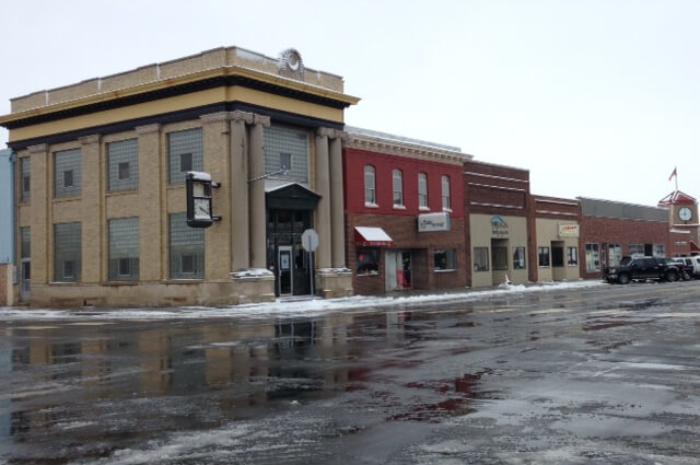 Snowy Downtown