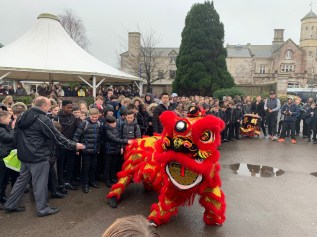 All of the students and teachers from Bay House School are enjoying the Lion Dance to celebrate 2019 Chinese New Year(1)