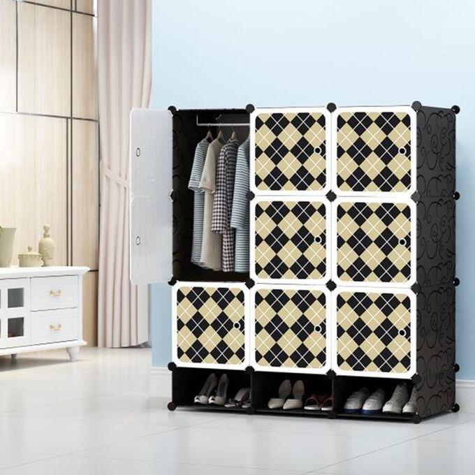 armoire etagere de rangement en plastique pour enfant avec 3 places a chaussures 11 compartiments