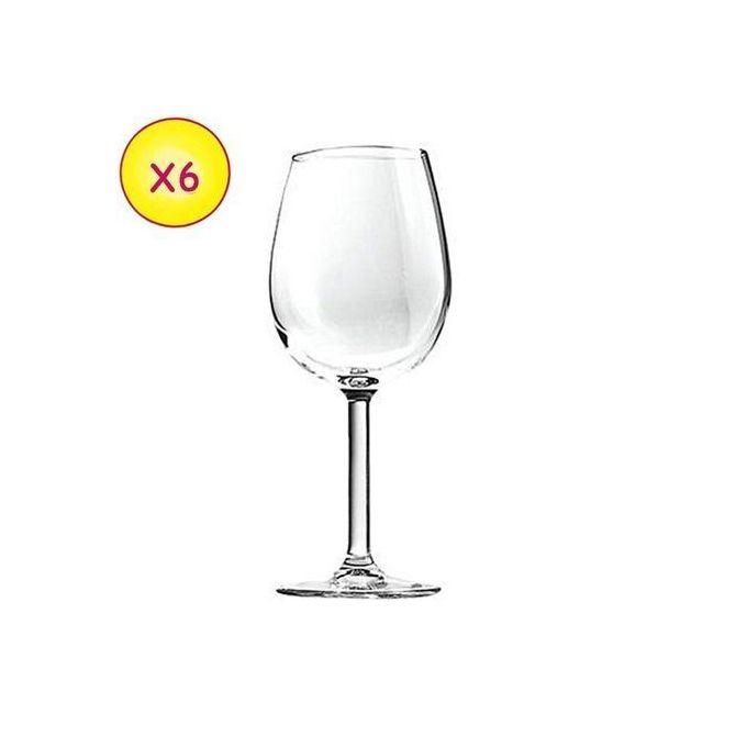 verre en coupe avec pied 6 pieces transparent