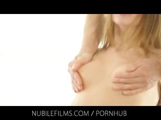 Nubile Movies – Hottie hottie with small titties smashes two in need of sex lovers