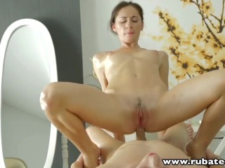 RubATeen Pussy and Anal sex makes Russian babe happy