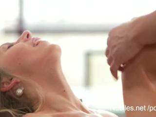 Flawless titties dripping with jizz