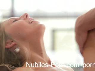 Intense cutie Ebbi strokes cum from exhausting shaft