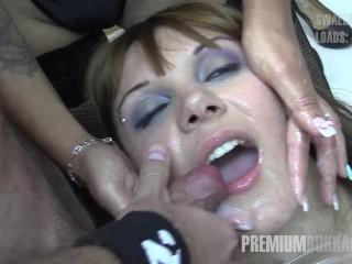 Premium Bukkake – Michelle swallows 71 huge mouthful cumshots